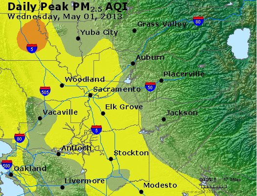 Peak Particles PM<sub>2.5</sub> (24-hour) - https://files.airnowtech.org/airnow/2013/20130501/peak_pm25_sacramento_ca.jpg
