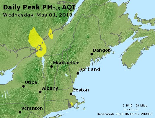 Peak Particles PM<sub>2.5</sub> (24-hour) - https://files.airnowtech.org/airnow/2013/20130501/peak_pm25_vt_nh_ma_ct_ri_me.jpg