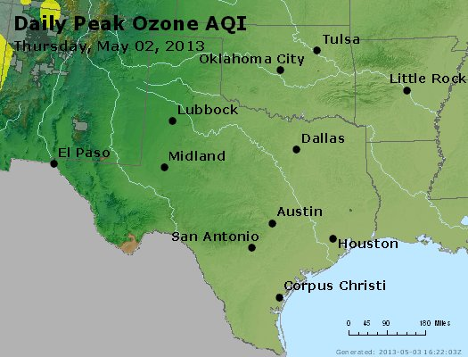 Peak Ozone (8-hour) - https://files.airnowtech.org/airnow/2013/20130502/peak_o3_tx_ok.jpg