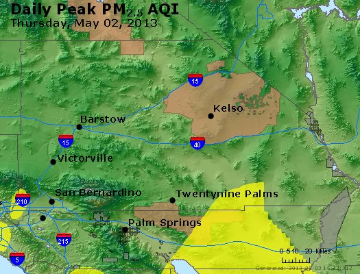 Peak Particles PM<sub>2.5</sub> (24-hour) - https://files.airnowtech.org/airnow/2013/20130502/peak_pm25_sanbernardino_ca.jpg