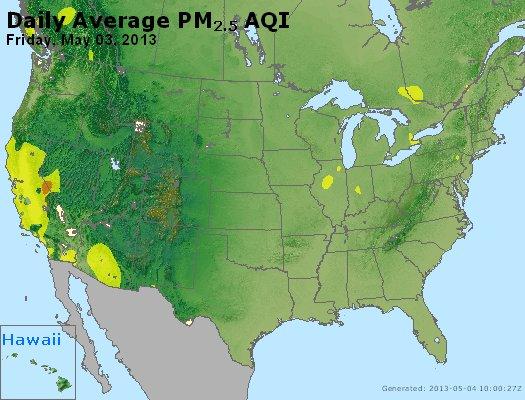 Peak Particles PM<sub>2.5</sub> (24-hour) - https://files.airnowtech.org/airnow/2013/20130503/peak_pm25_usa.jpg