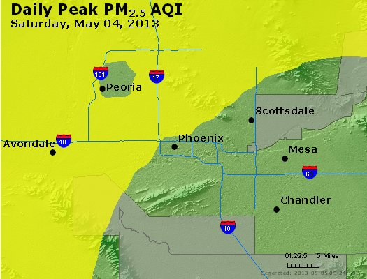 Peak Particles PM<sub>2.5</sub> (24-hour) - https://files.airnowtech.org/airnow/2013/20130504/peak_pm25_phoenix_az.jpg