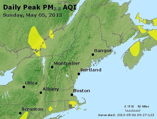 Peak Particles PM2.5 (24-hour) - https://files.airnowtech.org/airnow/2013/20130505/peak_pm25_vt_nh_ma_ct_ri_me.jpg