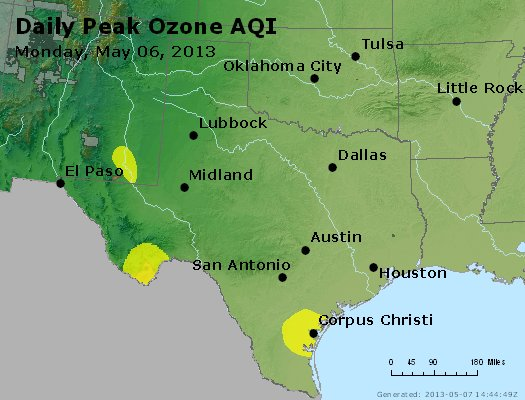 Peak Ozone (8-hour) - https://files.airnowtech.org/airnow/2013/20130506/peak_o3_tx_ok.jpg