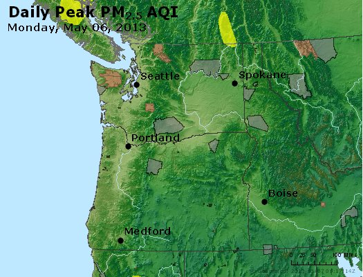 Peak Particles PM2.5 (24-hour) - https://files.airnowtech.org/airnow/2013/20130506/peak_pm25_wa_or.jpg
