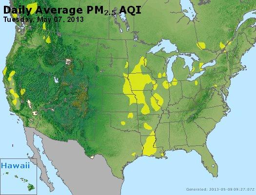 Peak Particles PM<sub>2.5</sub> (24-hour) - https://files.airnowtech.org/airnow/2013/20130507/peak_pm25_usa.jpg