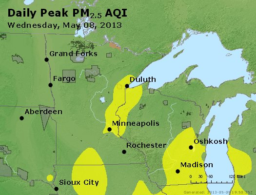 Peak Particles PM2.5 (24-hour) - https://files.airnowtech.org/airnow/2013/20130508/peak_pm25_mn_wi.jpg