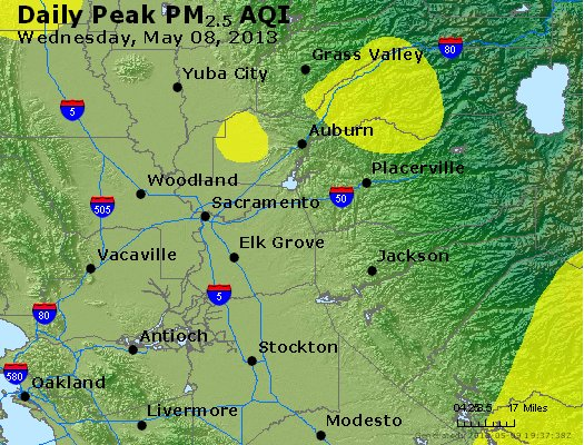 Peak Particles PM<sub>2.5</sub> (24-hour) - https://files.airnowtech.org/airnow/2013/20130508/peak_pm25_sacramento_ca.jpg