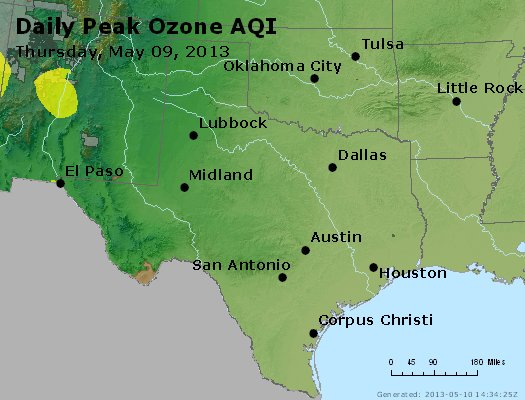 Peak Ozone (8-hour) - https://files.airnowtech.org/airnow/2013/20130509/peak_o3_tx_ok.jpg