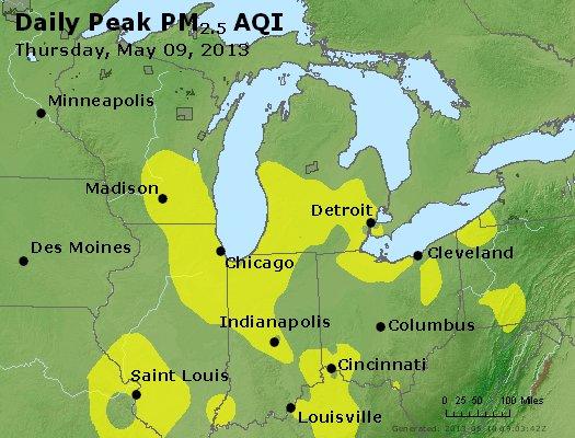 Peak Particles PM2.5 (24-hour) - https://files.airnowtech.org/airnow/2013/20130509/peak_pm25_mi_in_oh.jpg