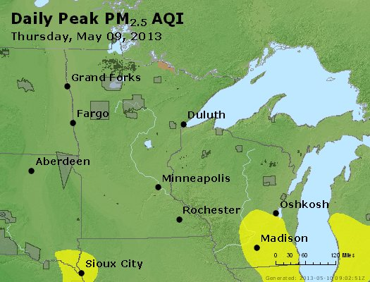 Peak Particles PM2.5 (24-hour) - https://files.airnowtech.org/airnow/2013/20130509/peak_pm25_mn_wi.jpg