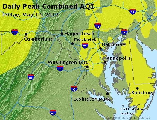 Peak AQI - https://files.airnowtech.org/airnow/2013/20130510/peak_aqi_maryland.jpg