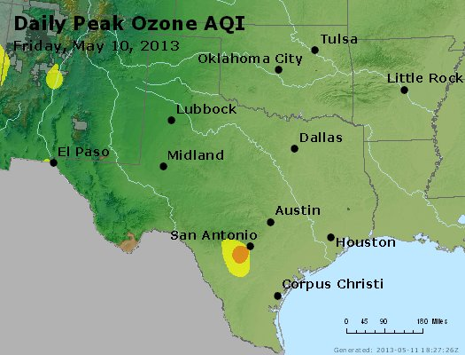 Peak Ozone (8-hour) - https://files.airnowtech.org/airnow/2013/20130510/peak_o3_tx_ok.jpg