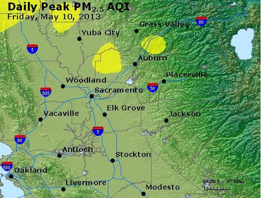 Peak Particles PM<sub>2.5</sub> (24-hour) - https://files.airnowtech.org/airnow/2013/20130510/peak_pm25_sacramento_ca.jpg