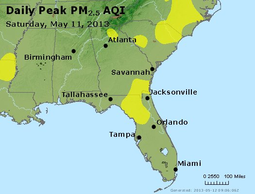 Peak Particles PM2.5 (24-hour) - https://files.airnowtech.org/airnow/2013/20130511/peak_pm25_al_ga_fl.jpg