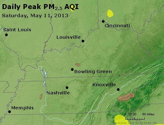Peak Particles PM2.5 (24-hour) - https://files.airnowtech.org/airnow/2013/20130511/peak_pm25_ky_tn.jpg