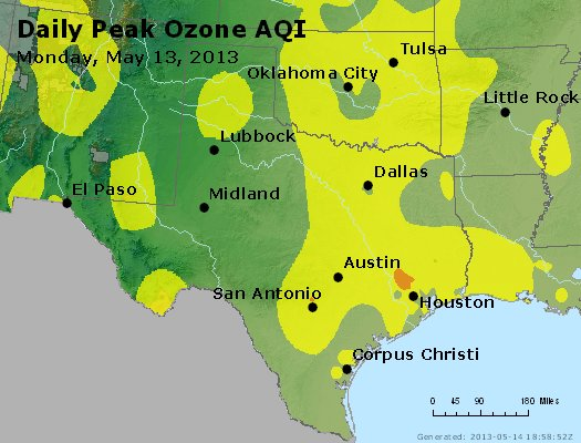 Peak Ozone (8-hour) - https://files.airnowtech.org/airnow/2013/20130513/peak_o3_tx_ok.jpg