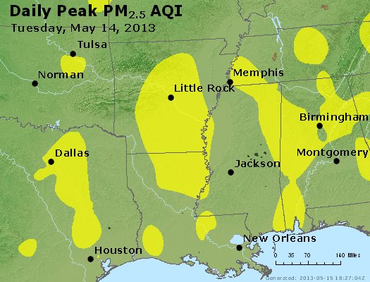 Peak Particles PM2.5 (24-hour) - https://files.airnowtech.org/airnow/2013/20130514/peak_pm25_ar_la_ms.jpg