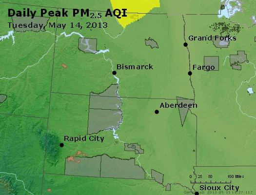 Peak Particles PM2.5 (24-hour) - https://files.airnowtech.org/airnow/2013/20130514/peak_pm25_nd_sd.jpg