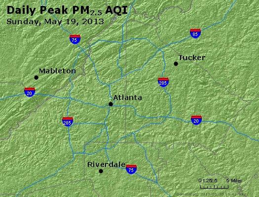 Peak Particles PM<sub>2.5</sub> (24-hour) - https://files.airnowtech.org/airnow/2013/20130519/peak_pm25_atlanta_ga.jpg
