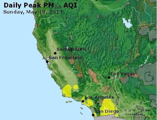 Peak Particles PM<sub>2.5</sub> (24-hour) - https://files.airnowtech.org/airnow/2013/20130519/peak_pm25_ca_nv.jpg