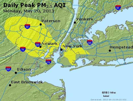 Peak Particles PM<sub>2.5</sub> (24-hour) - https://files.airnowtech.org/airnow/2013/20130520/peak_pm25_newyork_ny.jpg
