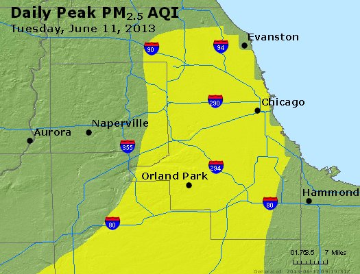 Peak Particles PM<sub>2.5</sub> (24-hour) - https://files.airnowtech.org/airnow/2013/20130611/peak_pm25_chicago_il.jpg