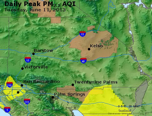 Peak Particles PM<sub>2.5</sub> (24-hour) - https://files.airnowtech.org/airnow/2013/20130611/peak_pm25_sanbernardino_ca.jpg