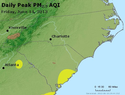 Peak Particles PM2.5 (24-hour) - https://files.airnowtech.org/airnow/2013/20130614/peak_pm25_nc_sc.jpg