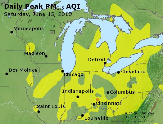 Peak Particles PM<sub>2.5</sub> (24-hour) - https://files.airnowtech.org/airnow/2013/20130615/peak_pm25_mi_in_oh.jpg
