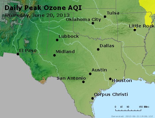 Peak Ozone (8-hour) - https://files.airnowtech.org/airnow/2013/20130620/peak_o3_tx_ok.jpg