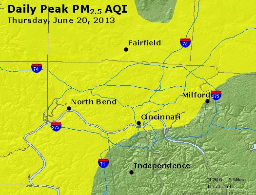Peak Particles PM<sub>2.5</sub> (24-hour) - https://files.airnowtech.org/airnow/2013/20130620/peak_pm25_cincinnati_oh.jpg