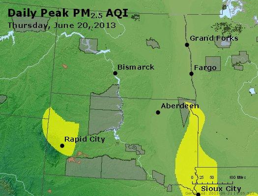 Peak Particles PM2.5 (24-hour) - https://files.airnowtech.org/airnow/2013/20130620/peak_pm25_nd_sd.jpg