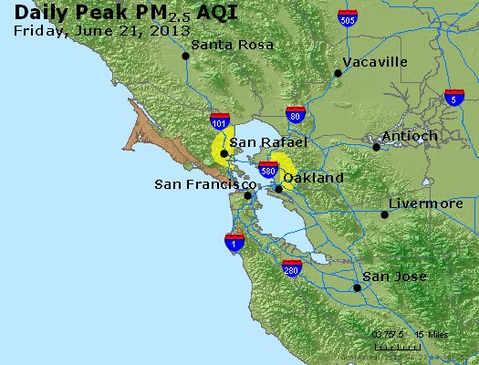 Peak Particles PM<sub>2.5</sub> (24-hour) - https://files.airnowtech.org/airnow/2013/20130621/peak_pm25_sanfrancisco_ca.jpg