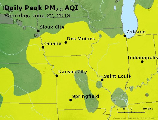 Peak Particles PM<sub>2.5</sub> (24-hour) - https://files.airnowtech.org/airnow/2013/20130622/peak_pm25_ia_il_mo.jpg
