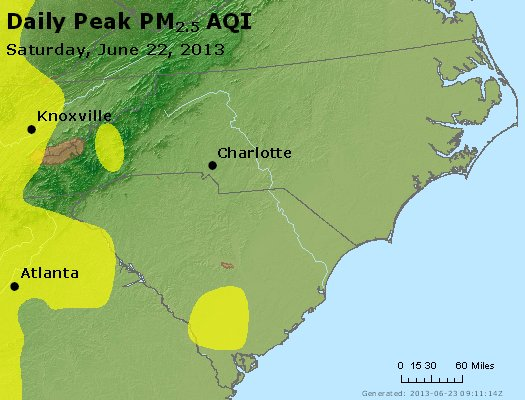 Peak Particles PM2.5 (24-hour) - https://files.airnowtech.org/airnow/2013/20130622/peak_pm25_nc_sc.jpg