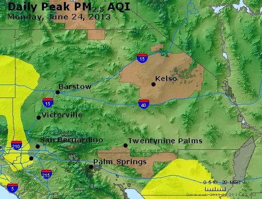 Peak Particles PM<sub>2.5</sub> (24-hour) - https://files.airnowtech.org/airnow/2013/20130624/peak_pm25_sanbernardino_ca.jpg
