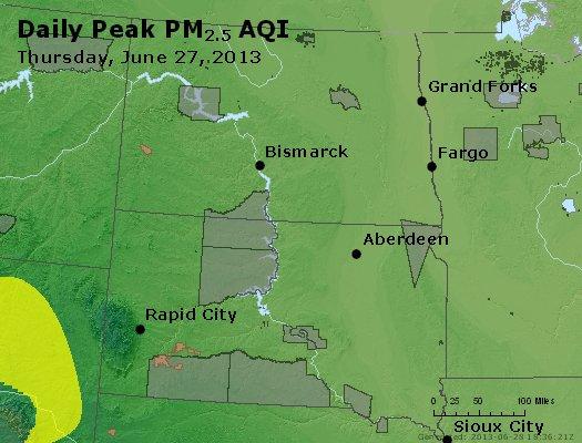 Peak Particles PM2.5 (24-hour) - https://files.airnowtech.org/airnow/2013/20130627/peak_pm25_nd_sd.jpg
