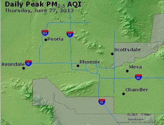 Peak Particles PM<sub>2.5</sub> (24-hour) - https://files.airnowtech.org/airnow/2013/20130627/peak_pm25_phoenix_az.jpg