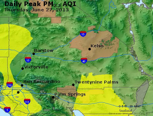 Peak Particles PM<sub>2.5</sub> (24-hour) - https://files.airnowtech.org/airnow/2013/20130627/peak_pm25_sanbernardino_ca.jpg