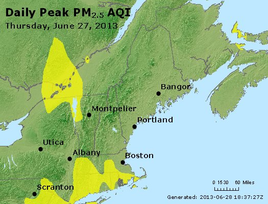 Peak Particles PM<sub>2.5</sub> (24-hour) - https://files.airnowtech.org/airnow/2013/20130627/peak_pm25_vt_nh_ma_ct_ri_me.jpg