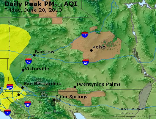 Peak Particles PM<sub>2.5</sub> (24-hour) - https://files.airnowtech.org/airnow/2013/20130628/peak_pm25_sanbernardino_ca.jpg