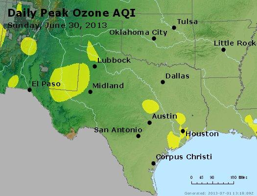 Peak Ozone (8-hour) - https://files.airnowtech.org/airnow/2013/20130630/peak_o3_tx_ok.jpg