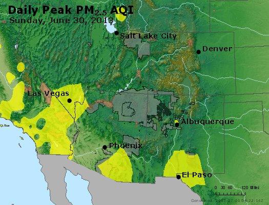 Peak Particles PM2.5 (24-hour) - https://files.airnowtech.org/airnow/2013/20130630/peak_pm25_co_ut_az_nm.jpg