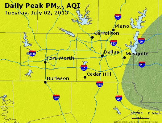 Peak Particles PM2.5 (24-hour) - https://files.airnowtech.org/airnow/2013/20130702/peak_pm25_dallas_tx.jpg
