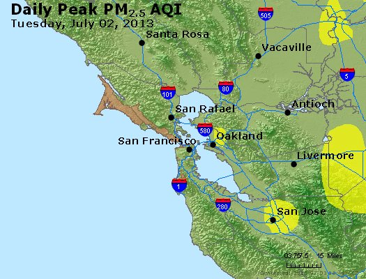 Peak Particles PM<sub>2.5</sub> (24-hour) - https://files.airnowtech.org/airnow/2013/20130702/peak_pm25_sanfrancisco_ca.jpg