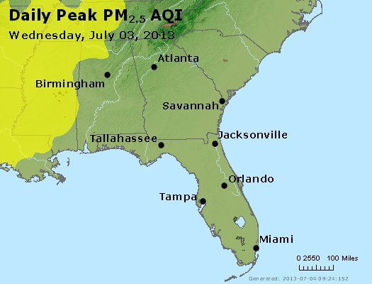 Peak Particles PM2.5 (24-hour) - https://files.airnowtech.org/airnow/2013/20130703/peak_pm25_al_ga_fl.jpg