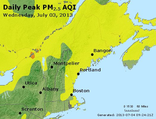 Peak Particles PM<sub>2.5</sub> (24-hour) - https://files.airnowtech.org/airnow/2013/20130703/peak_pm25_vt_nh_ma_ct_ri_me.jpg