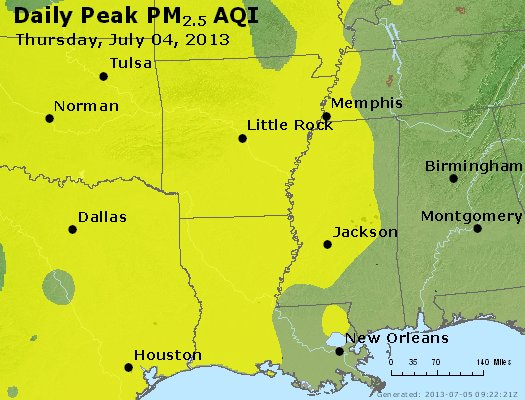 Peak Particles PM2.5 (24-hour) - https://files.airnowtech.org/airnow/2013/20130704/peak_pm25_ar_la_ms.jpg
