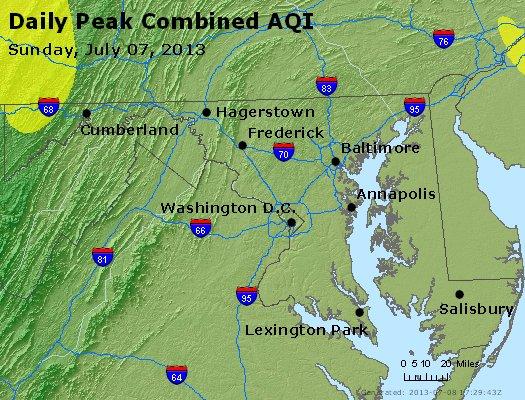 Peak AQI - https://files.airnowtech.org/airnow/2013/20130707/peak_aqi_maryland.jpg